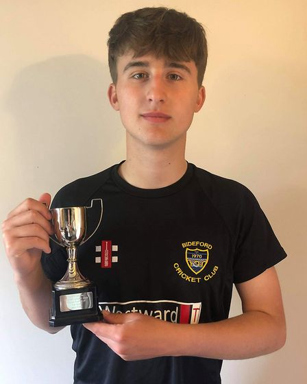 Jack Ford was the North Devon League's young player of the year.