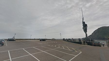 Ilfracombe's Pier car park is one of the coastal car parks to resume charging. Picture: Google