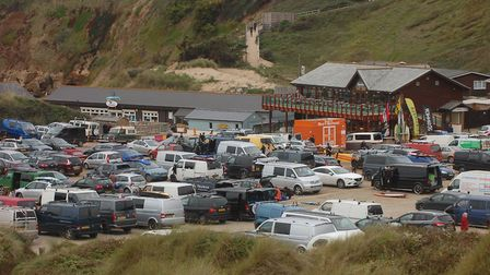 Saunton beach car park will reopen on May 18. Archive picture taken during a previous season.