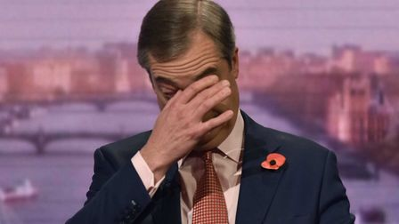 Nigel Farage appears on the Andrew Marr show. Photo: Jeff Overs / BBC.