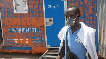 Some of the PPE funded by Origin arriving in Togo.