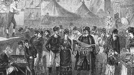 Barnstaple Fair, once held in the Square, was visited by 'the work of Satan' in 1855.