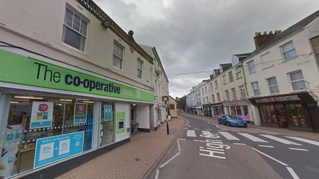 The man was robbed outside the Co-op in Ilfracombe High Street. Picture: Google