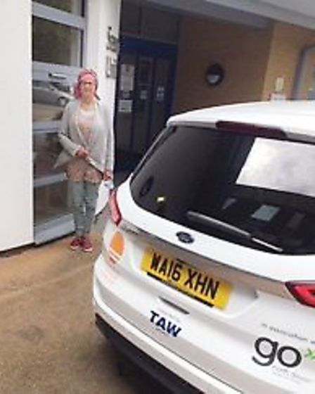 North Devon Cancer Care Car client Louise Rands-Silva from Bideford says the service is essential. P