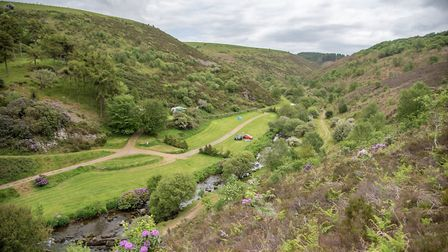 The camping site at Cloud Farm, which has been acquired by the National Trust. Picture: Mark Johnson