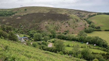 The Cloud Farm camping site, which is among the land that has been acquired by the National Trust. P