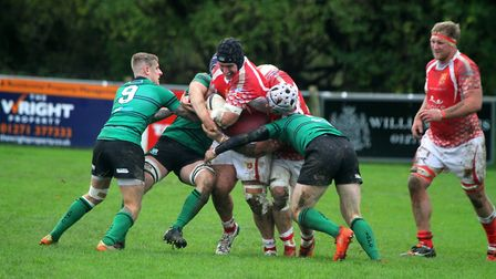 James Starkey carries the ball for Barnstaple against Ivybridge in the South West Premier. Picture: