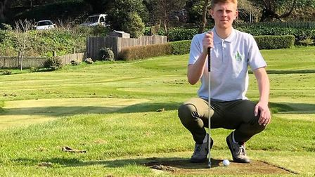 Liam Drew of Holein1 Lynmouth is planning an epic 29.5 hour putting challenge to raise money for cha