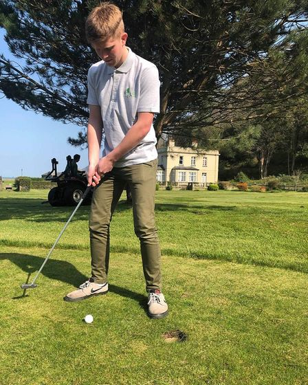 Liam Drew, aged 19, will putt non-stop for 759 holes in support of the Ask for Jake mental health su
