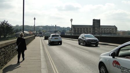 Traffic on Barnstaple Longbridge. Picture: Tony Gussin