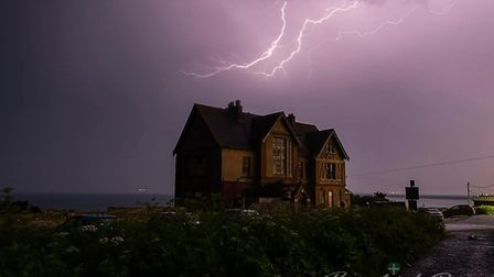 An amazing picture of lightning over Westward Ho!'s 'haunted house' by Andy Davey. Picture: Andy Dav
