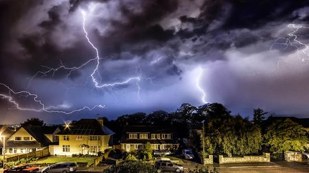 Lightning over Exmouth. Picture: Ian Bateman