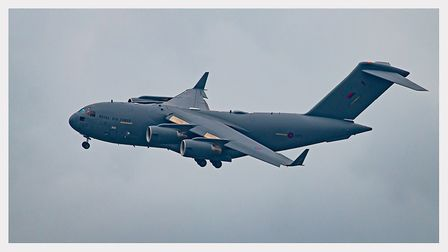An ultra-clear shot of the RAF C17 during its visit to North Devon. Picture: Robert Cudmore