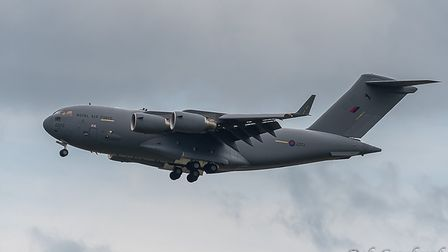 The C17 Globemaster during is visit to North Devon on Monday, June 15. Picture: Bob Cowlard