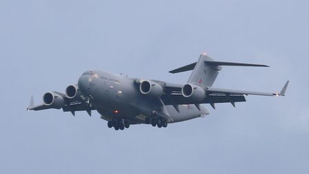The huge C17 Globemaster aircraft has been carrying out extensive training in North Devon and around