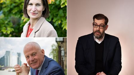 Among those at Appledore Book Festival 2020: Kate Werran, Michael Cashman and Richard Osman. Picture