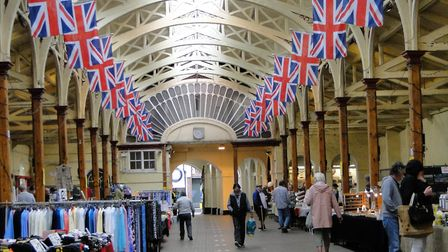 Barnstaple Pannier Market, reopen with coronavirus measures in place. Picture: Tony Gussin