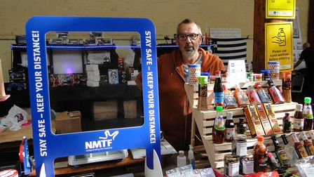 Dee Woods at the Small Spice & Herbs stall in Barnstaple Pannier Market. Picture: Tony Gussin