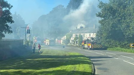 The scene at Foxhutners Inn. Picture: Nicky Lang