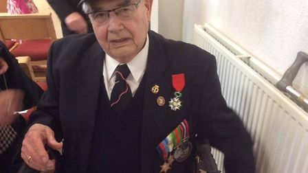 Len Husband, pictured at the Legion d'Honneur medal ceremony at RMB Chivenor in 2016. Picture: Liza