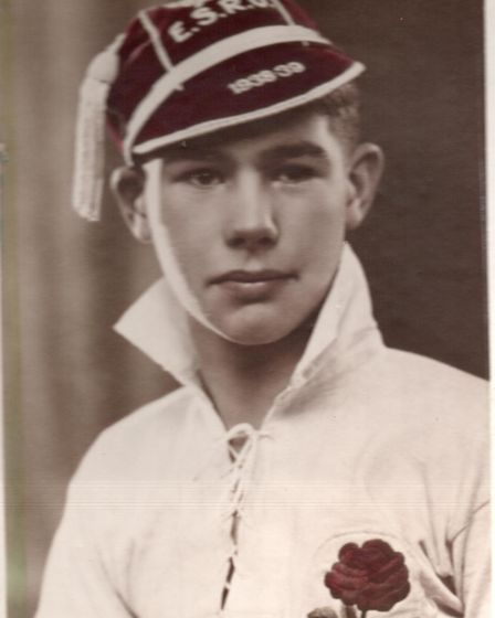 Len Husband was selected as an England schoolboy rugby player in 1939.