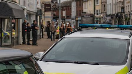 Disorder in Barnstaple town centre on 'super Saturday'. Picture: Phil Sobey
