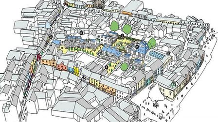An artists' impression of the Isaac's Yard development, which is the focus of Torridge District Coun
