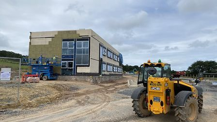 Work is continuing on the new Northern Devon Enterprise Centre. Picture: DCC