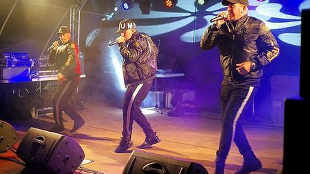East 17 performing at The Big Sheep. Picture: Simon Ellery
