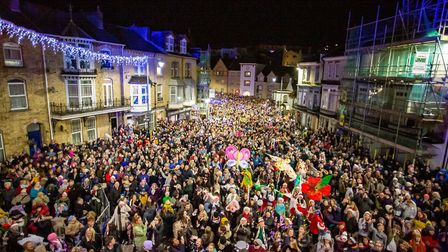 Scenes from the 2019 lighting of the lights in Ilfracombe. Picture: Tim Lamerton
