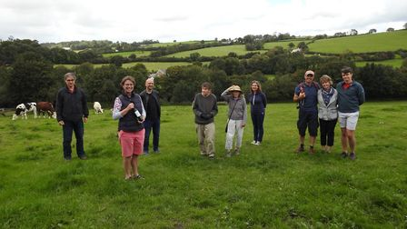 The Friends of Mannings Pit gather at the Pilton beauty spot to give their campaign to raise money t
