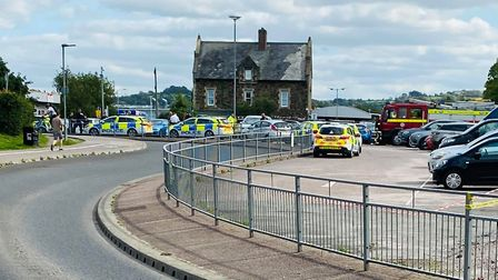 Multiple police cars and a fire engine have been spotted at Barnstaple station following an incidnet