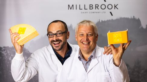 Millbrook Dairy Company founders Kevin Beer and David Evans.