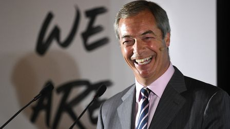 """Nigel Farage said his promise of a Brexit Party manifesto was a """"joke"""". Photograph: Joe Giddens/PA."""