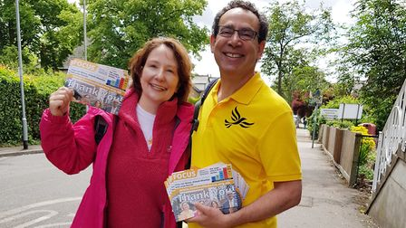 Elizabeth Evenden-Kenyon on the campaign trail. Picture: contributed
