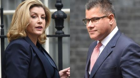 Former international development secretary Penny Mordaunt and the current post holder Alok Sharma ha