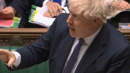 Boris Johnson speaking at prime minister's questions in the House of Commons (pic: Parliament)