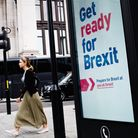 A woman rapidly forgetting a 'Get Ready for Brexit' advert. Picture: David Cliff/NurPhoto via Getty