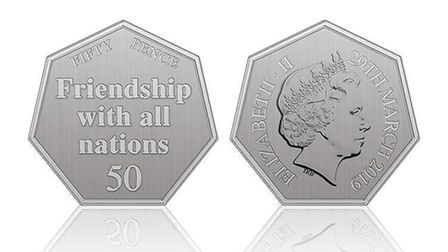 An early design of the ill-fated (so far) 'Brexit 50p'. Picture: HM Treasury