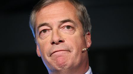 Leader of the Brexit Party Nigel Farage speaks during a Brexit Party event. Photograph: Jonathan Bra
