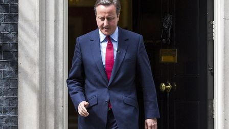 LONDON, ENGLAND - JULY 11: British Prime Minister David Cameron leaves Number 10 Downing Street befo