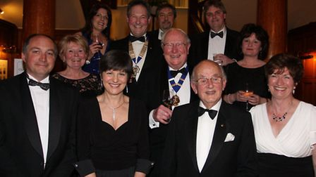 The Sidmouth Chamber of Commerce committee members at their 70th year celebration annual dinner and