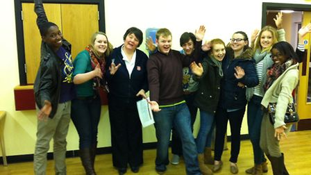 Helen Schofield, the Salvation Army's Divisional Youth Officer with the young people who will be com