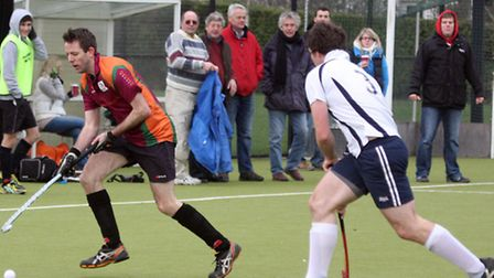 Sidmouth and Ottery Men's first hockey team at home to Taunton Vale A. Photo by Terry Ife shsp 6791-