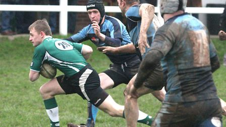 Sidmouth 2nds took on Tiverton 2nds at Blackmore on Saturday. Photo by Terry Ife ref shsp 6912-04-13