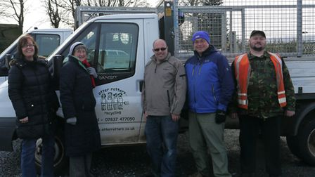 The Otter Rotters team get ready to roll after from green waste collections over the winter.