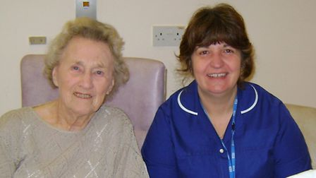 Assistant Director of Nursing Tina Naldrett visiting patients at Ottery St Mary Hospital.