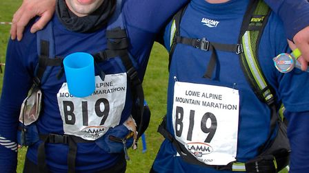 Tom Chesters (left), with his brother Ben having completed the Lowe Alpine Mountain Marathon in 2010