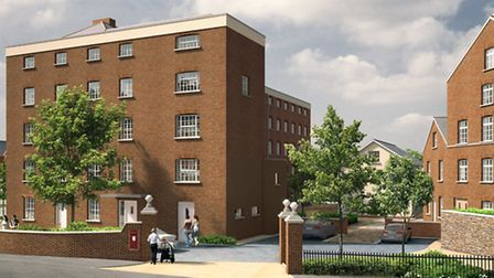 An artist's impression of what the renovated factory and Ottery Town Mill could look like if new pla