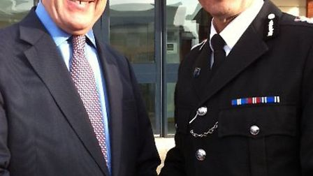Police and Crime Commissioner Tony Hogg with Shaun Sawyer, the propsed new Chief Constable for Devon